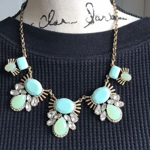 Unique Light Green Statement necklace